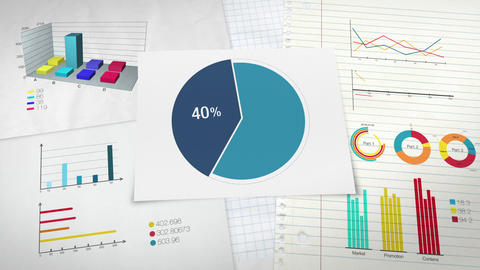 Pie chart indicated 40 percent, Circle diagram for presentation version 2 Animation