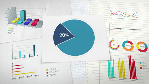 Pie chart indicated 20 percent, Circle diagram for presentation version 2 Animation