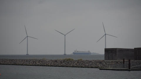 The theme is net power generation and environmental protection. A number of wind Live Action