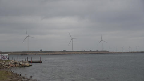 The theme is net power generation and environmental protection. A number of wind Footage