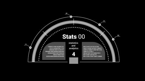 Isolated overlay infographic element - hemisphere chart Animation