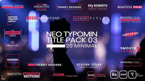 20 Typomin Title Pack 03 AE After Effects Template