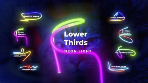 Lower Thirds Neon 3 Premiere Proテンプレート