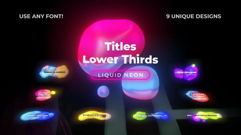 Neon Lower Thirds Liquid After Effects Template