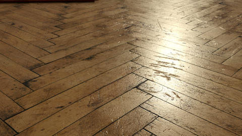 animation of old parquet floor with cracks in the sunlight Animation