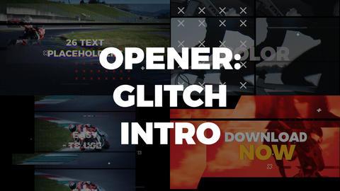 Opener Glitch Intro Premiere Pro Template