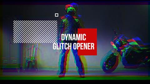 Dynamic Glitch Opener Premiere Pro Template