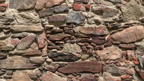 Old castle stone wall.Texture of a stone wall Live Action