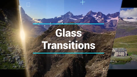 Glass Transitions After Effects Template