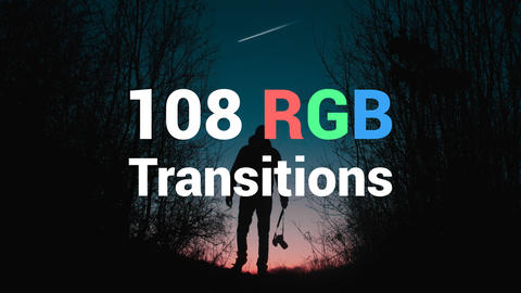 108 RGB Transitions After Effects Template