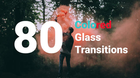 Colored Glass Transitions After Effects Template