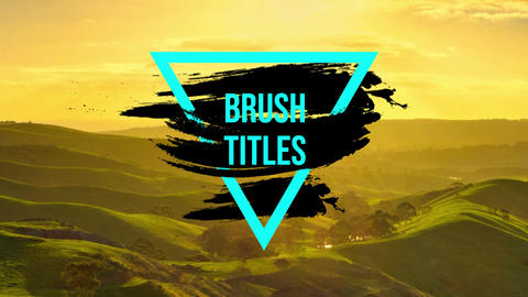 Brush Titles Premiere Pro Template
