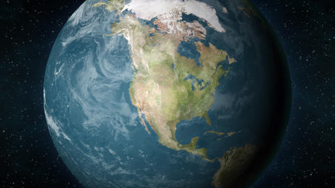 Planet Earth, zooming in on the North American continent Animation