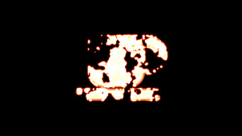 Symbol cup of coffee burns out of transparency, then burns again. Alpha channel Premultiplied - Animation