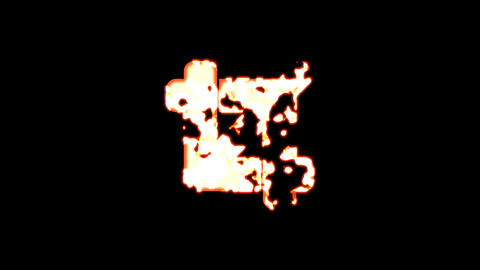 Symbol crop burns out of transparency, then burns again. Alpha channel Premultiplied - Matted with Animation