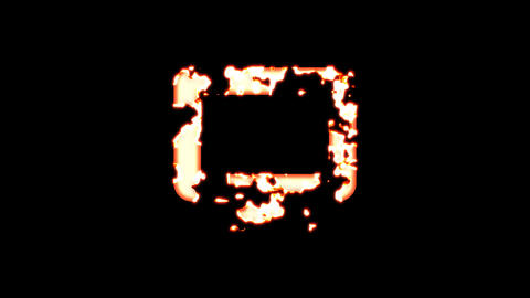 Symbol desktop burns out of transparency, then burns again. Alpha channel Premultiplied - Matted Animation
