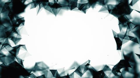 Abstract network dark frame Videos animados