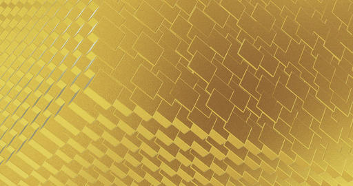 Abstract geometric golden backgroundfoil tiles texture seamless loop background Animation