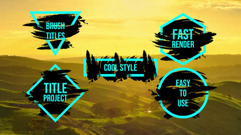 Brush Titles Motion Graphics Template