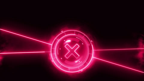 Futuristic sports game loop animation. Versus fight background. Radar neon digital display. X target CG動画