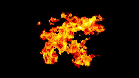 Fire, burn background. flame cg animation, like hell. Realistic animation of red, orange fire Animation