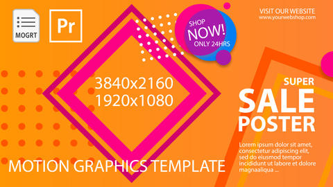 Sale Poster Motion Graphics Template