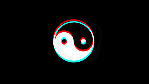 Yin Yang Taoism buddhism daoism religion icon Vintage Twitched Bad Signal Live Action