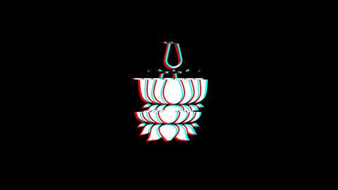 Religious symbol Ayyavazhi symbolism icon Vintage Twitched Bad Signal Animation Live Action