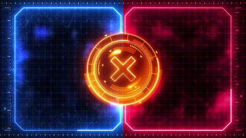 Futuristic sports game loop animation. Versus fight background. Radar neon digital display. X target Animation