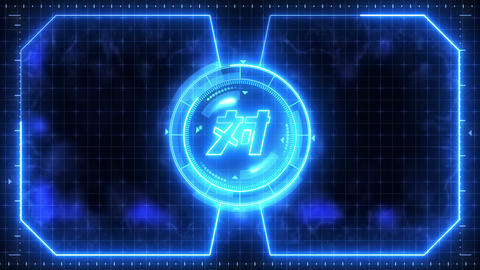 Futuristic sports game loop animation. Versus battle fight background. Radar neon display. Chinese CG動画