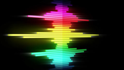 Audio colorful wave animation. Sound wave from equalizer. Pulse music player. Futuristic digital Videos animados