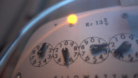 In the evening lights outdoor water meter HD Live影片