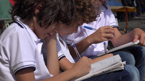 Elementary School Boys Drawing Live Action