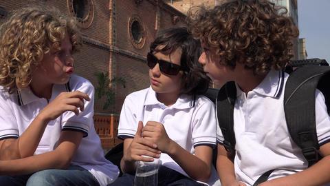 Kids Talking Friends Stock Video Footage