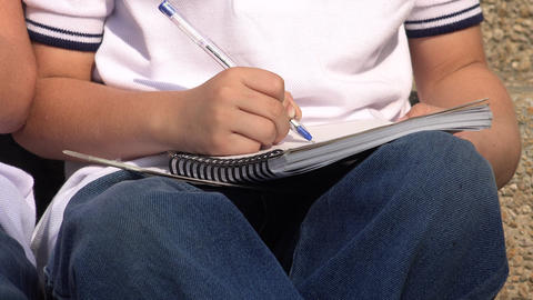 Boy Student With Notebook Live Action
