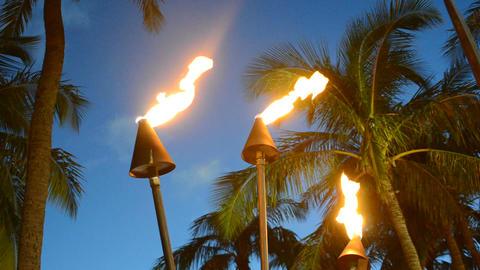 Hawaii Tiki Torches Footage