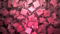 Abstract block shapes textured in red hue Footage