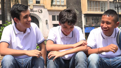 Teens Laughing And Telling Jokes Footage