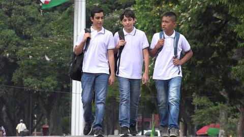 People Walking Teen Friends Live Action