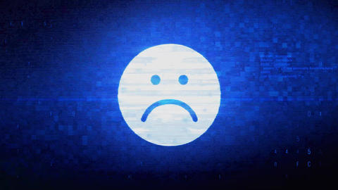 Unhappy Face Symbol Symbol Digital Pixel Noise Error Animation Live Action