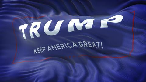 Flag vote for Trump - Keep America Great - Loop Live Action