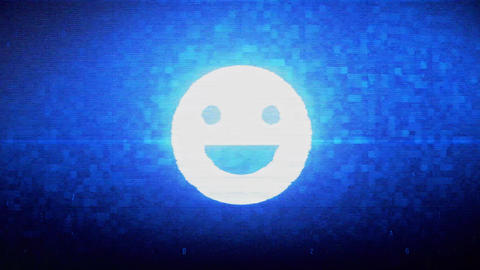 Big Smile Emoji Symbol Digital Pixel Noise Error Animation Live Action