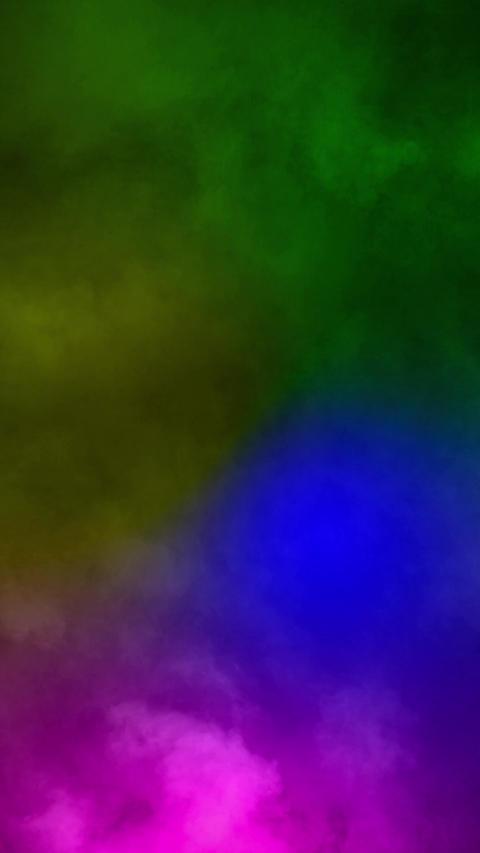 Fog smoke rainbow color loop animation Stock Video Footage