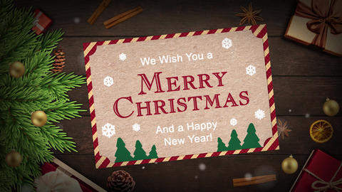 We Wish Youa Merry Christmas And a Happy New Year Animation