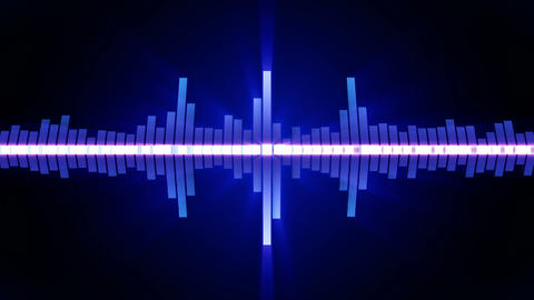 Audio blue wave animation. Sound wave from equalizer. Pulse music player. Futuristic digital sound Animation