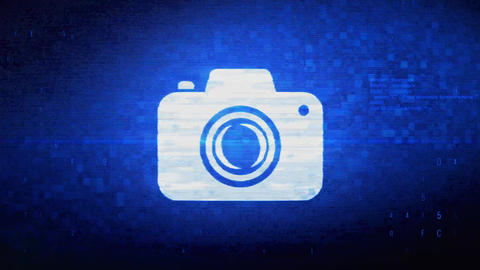 Camera Photography Symbol Digital Pixel Noise Error Animation Footage