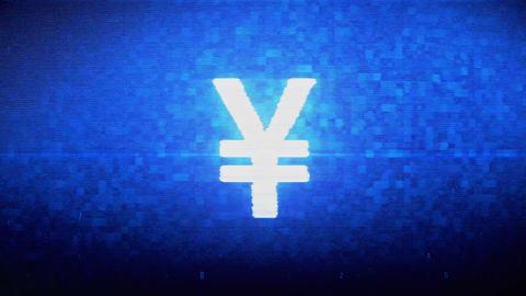 Yen Symbol Currency Symbol Digital Pixel Noise Error Animation Live Action