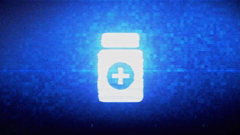 Medicine Health Care Symbol Digital Pixel Noise Error Animation Footage