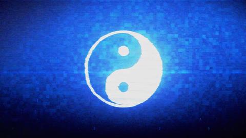 Yin Yang Symbol Of Harmony Symbol Digital Pixel Noise Error Animation Live Action