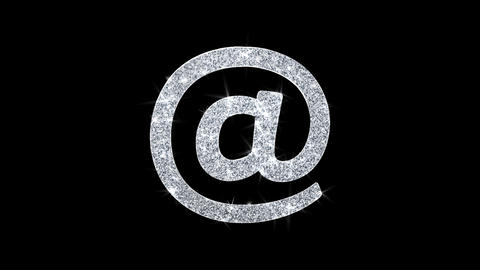 E mail, Email, Email, Inbox, Mail, Message Icon Shining Glitter Loop Blinking Live Action